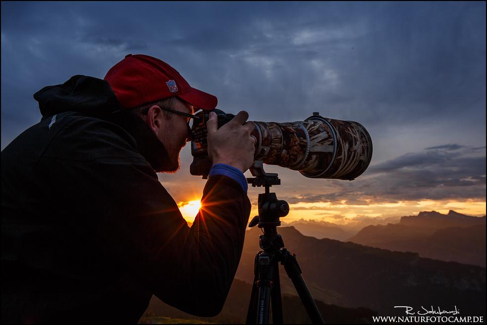Workshop in den Alpen, wo besondere Lichtstimmungen herrschen