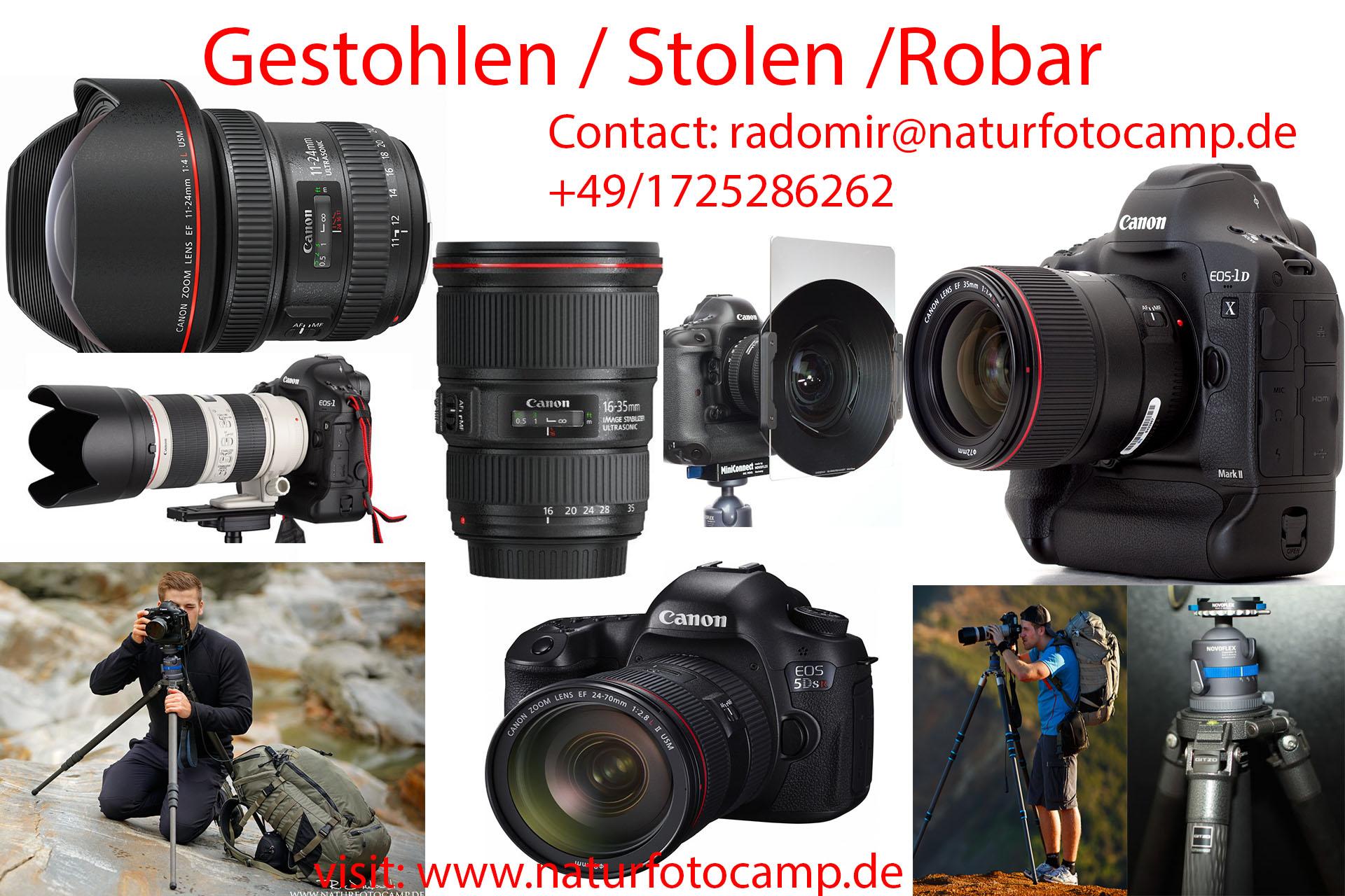 Mein Albtraum wurde wahr, meine gesamte Fotoausrüstung wurde gestohlen!