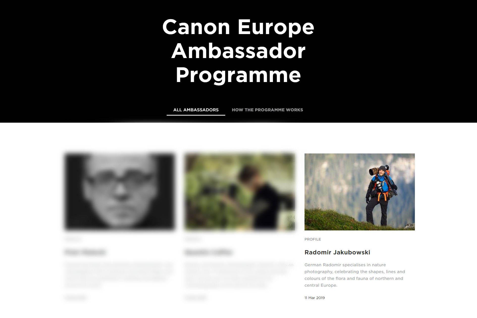 Canon Ambassador