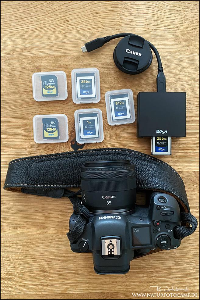 Welche CFExpress Karte für die Canon EOS R5 und 1DX Mark III Test